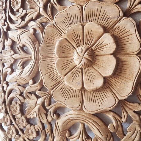 buy natural wooden wall art panel  thailand
