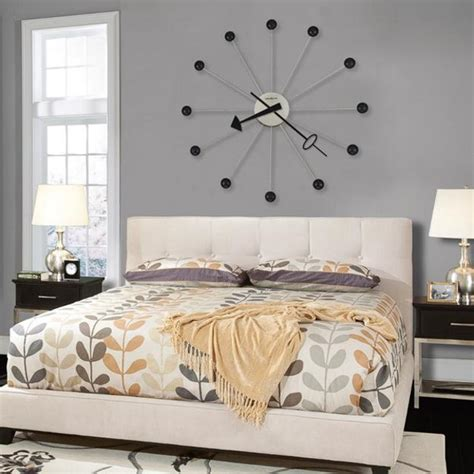 black and purple bedroom decorating ideas 25 ideas for modern interior decorating with large wall clocks