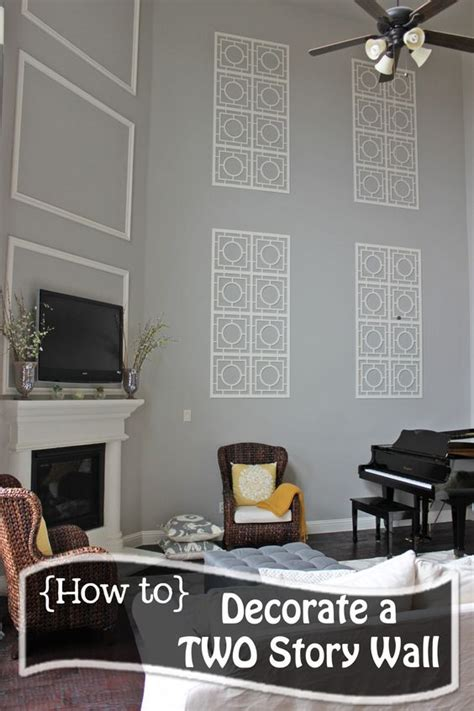 How To Decorate Home Cheap - how to decorate a two story wall what to do with those