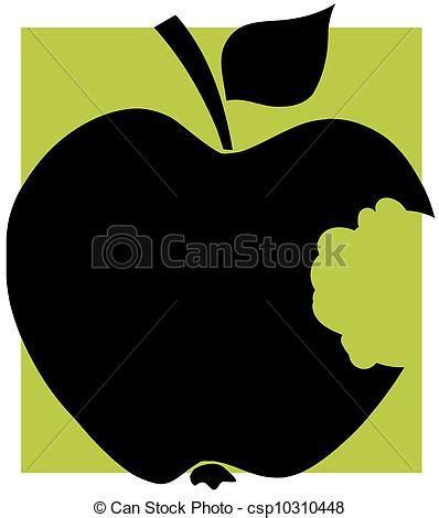 black apple   missing bite bitten apple black