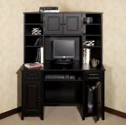 furniture luxury black computer corner desk with hutch