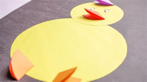 kids crafts easy paper animal  kids baby chicks