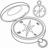 Bussola Colorare Drawing Kompas Compass Coloring Kompass Bianco Magnet Libro Nero Pagina Zwart Clip Rosa Illustrations Wit Svartvit Immagini Venti sketch template