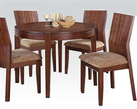 Dining Set W 42in Round Table Mauro By Acme Ac70542set