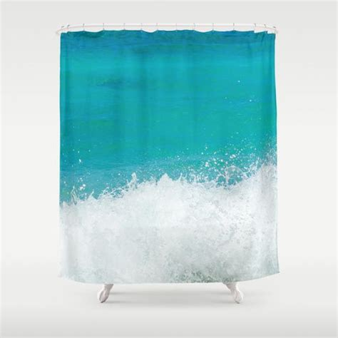 shower curtain  teal ocean  inches