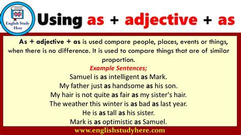 adjective   english english study