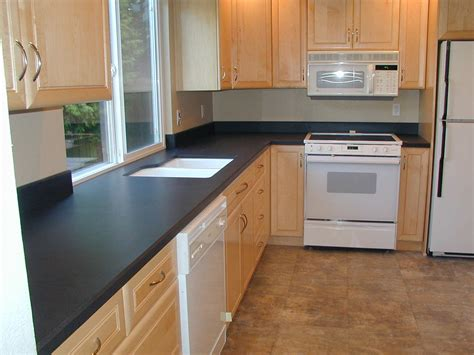 Black Laminate Countertops by Contemporary Kitchen Countertop Material For Modern Theme
