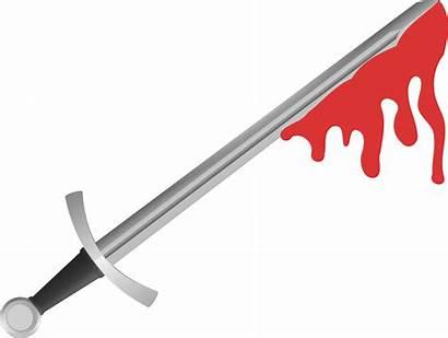 Sword Clipart Blood Bloody Vector Cross Transparent