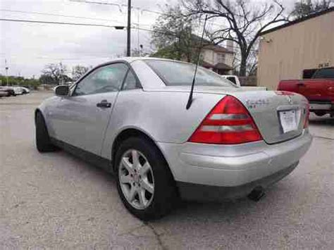 For inexpensive performance modification, try the gforce performance module (under $80); Purchase used 99 MERCEDES BENZ SLK 230 COMPRESOR CONVERTIBLE LEATHER WARRANTY in Houston, TX ...