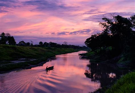 photo sunrise   peruvian amazon peru travel