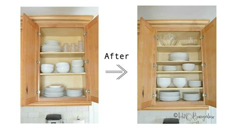 How To Add Extra Shelves To Kitchen Cabinets  H2obungalow