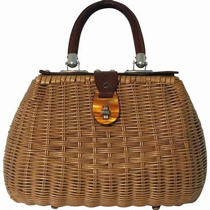 Wicker Rubylane Leather Purse Dresser Baskets Redo