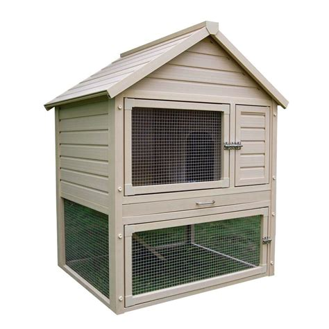 pet rabbit hutch new age pet ecoflex 2 7 ft x 4 ft huntington townhouse