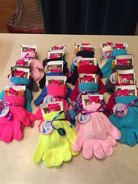 frozen loot bags dollar store gloves hot chocolate