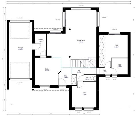 plan maison etage 4 chambres 1 bureau stunning plan de la maison habitat concept with plan