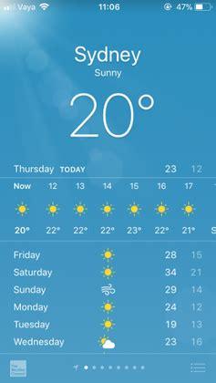 Apple iPhone App Icons Weather