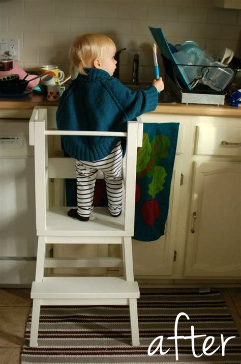 lucys learning tower ikea step stool hack learning
