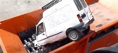 Shredder Machine Giant Cars Down Swallows Chomps