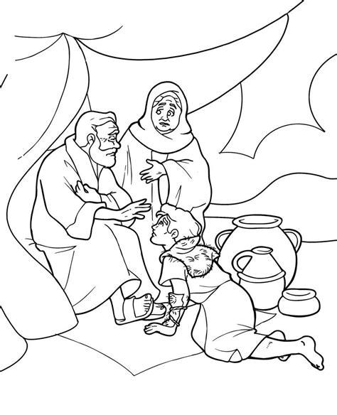 Jacob En Ezau Kleurplaat by Esau And Jacob Craft Hľadať Googlom Nabozenstvo