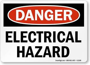 Electrical Hazard Warning High Voltage OSHA Sign, SKU: S ...