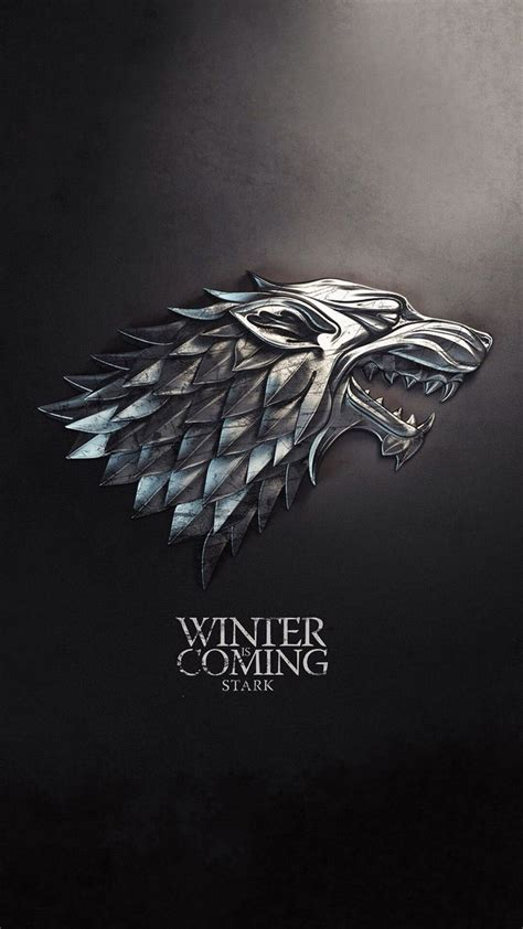 house stark game  thrones iphone wallpaper