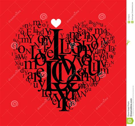 heart shape typography composition stock vector image