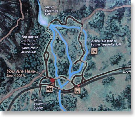 Lower Yosemite Falls Trail Map