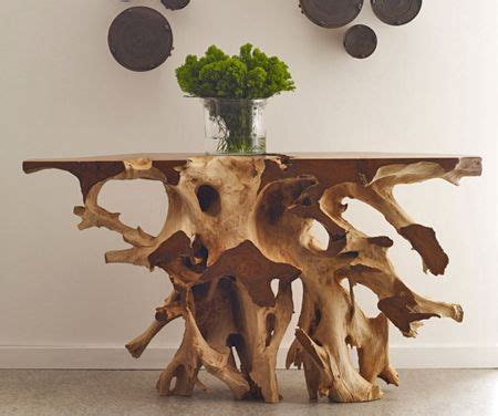 solid wood console root console table hardwood console