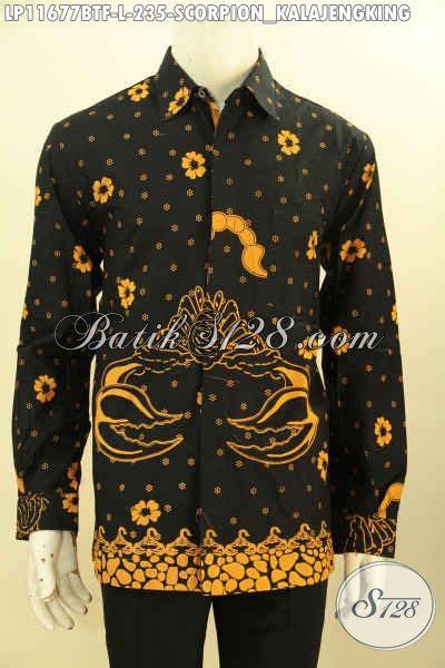 baju batik pria elegan motif unik kalajengking busana