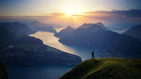 Wallpaper Lake Lucerne, Switzerland, Landscape, Lake