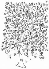 Coloring Magic Tree Pages sketch template