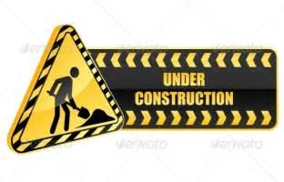 Warning Under Construction Sign