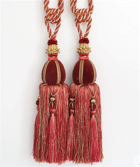 heavy large  luxury tassel curtain tieback holdback