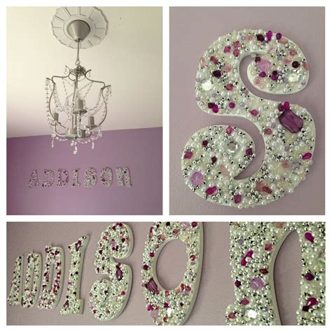 diy jeweled wooden letters   girls room future