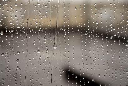 Rain Window Water Dripping Rainy Droplets Drizzle