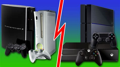 xbox vs ps4 ps4 xbox one vs ps3 xbox 360 the outsets of two generations compared