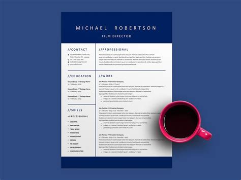 film director resume template  professional