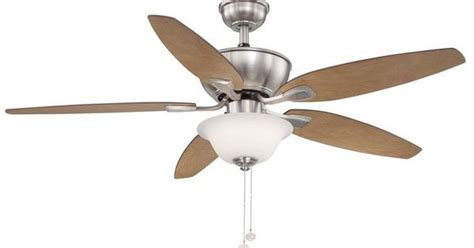 ceiling fan balancing kit home depot hton bay carrolton ii led 52 in brushed nickel ceiling