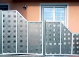 brix sichtschutz felder als alu passend zu vielen brix With garten planen mit balkon sichtschutz alu lochblech