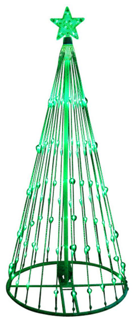 modern lighted christmas tree led light show cone christmas tree lighted yard art