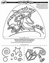 Coloring Crayola Pages Wizards Dome Designer Light Wands Tracing Sheets Numbers sketch template