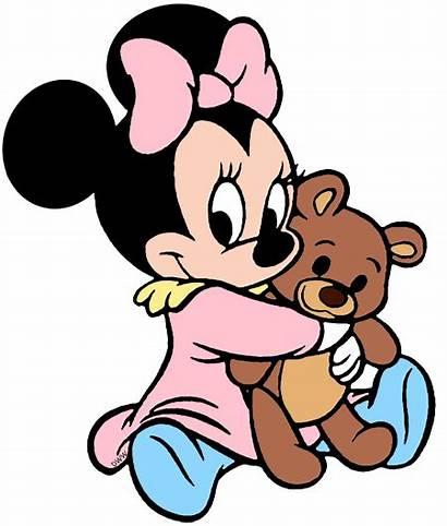 Minnie Teddy Cuddling Disneyclips Bear Disney Clip