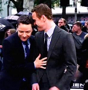 X-Men: DOFP UK Premiere - James McAvoy and Michael ...