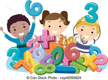 clipart numeri simboli bambini stickman numeri matematica matematico