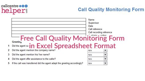 call monitoring evaluation  coaching form