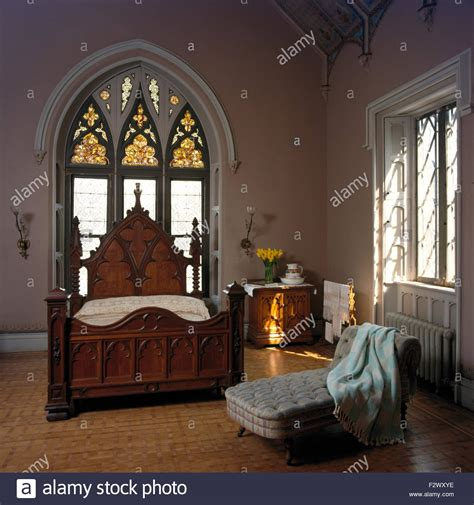 Bedroom Ls Glass by Stained Glass Window Above Style Bed In Eighties