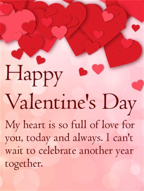 heart full love happy valentines day card birthday