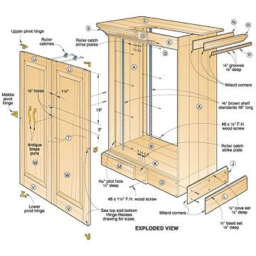 kitchen cabinet woodworking plans 3 assorted cabinet plans you can try your on 5879