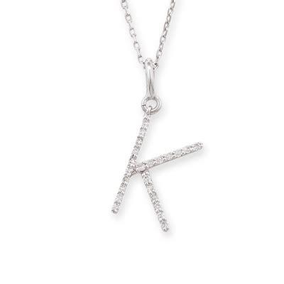 letter k necklace white gold letter k pendant road