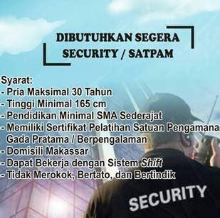 20 may, 2021 post a comment. Lowongan Kerja Security atau Satpam di Honda Sanggar Laut Selatan Group - Lowongan Kerja Makassar